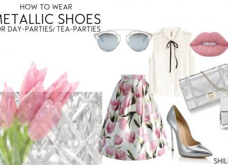 how-to-wear-metallic-shoes-day-party-silver-pumps-outfit