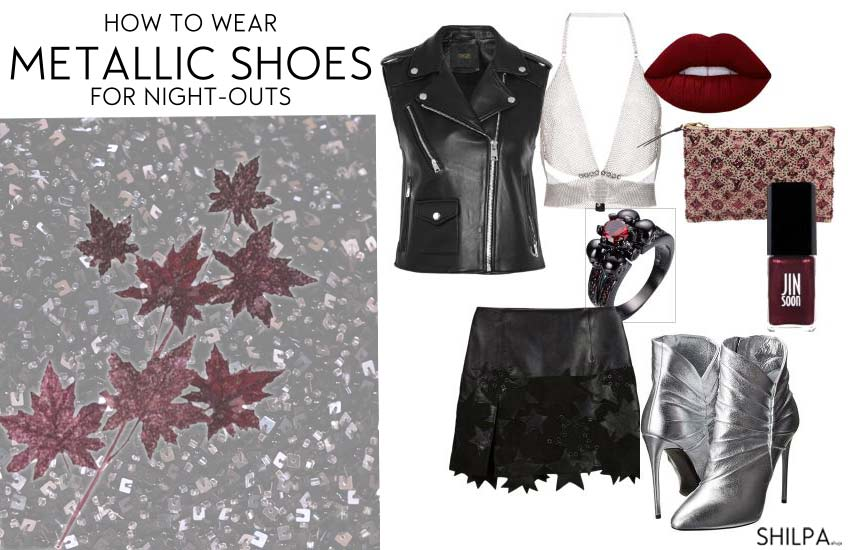 how-to-wear-metallic-shoes-night-out-silver-sexy-booties-outfit