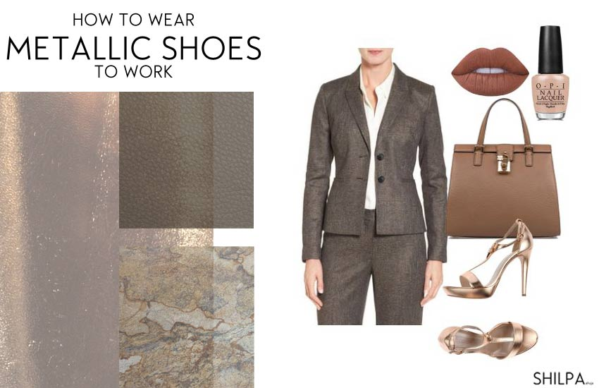 how-to-wear-metallic-shoes-office-work-heels-formal-outfit.JPG