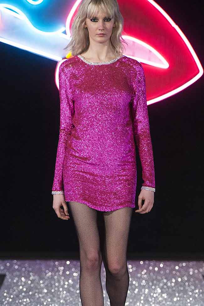 just-cavalli-hot-pink-metallic-dress-fw16-fall-winter-2016-latest-fashion-trends
