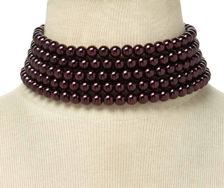 layered-pearl-choker-burgandy-forever21-shopping-ideas-pearl-online