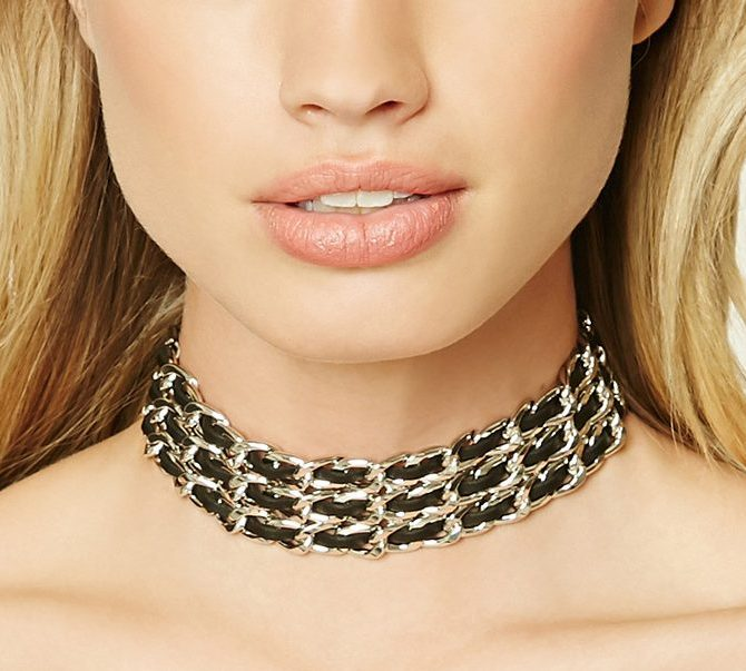 leather-chain-metal-black-chokers-black-gold-online-shoppinf-forever21-ideas-latest