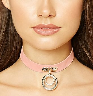 leather-ring-chokers-pink-simple-latest-forever-21-shopping-ideas-online