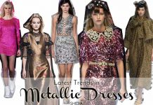 metallic-dresses-fall-winter-2016-how-to-wear-silver-copper-gold