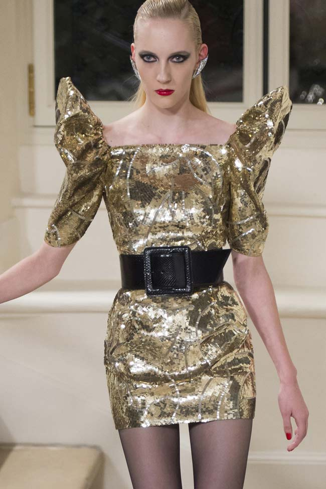 saint-laurent-gold-sequin-metallic-dress-fw16-fall-winter-2016-latest-fashion-trends