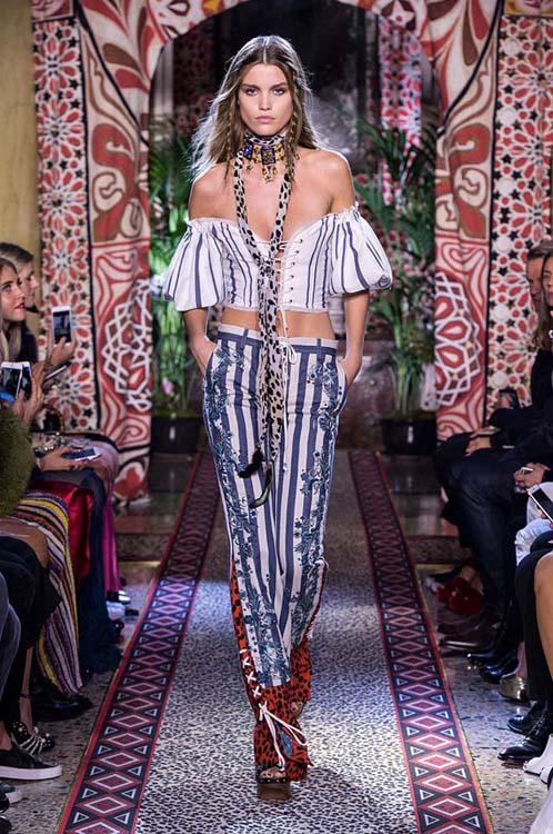 roberto-cavalli-spring-summer-2017-ss17-rtw-dress-10-white-off-shoulder-top-striped-pants-scarf-choker