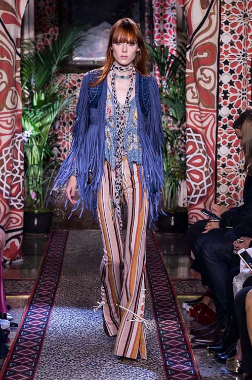 roberto-cavalli-spring-summer-2017-ss17-rtw-dress-13-blue-fringes-jacket-striped-pants-scarf