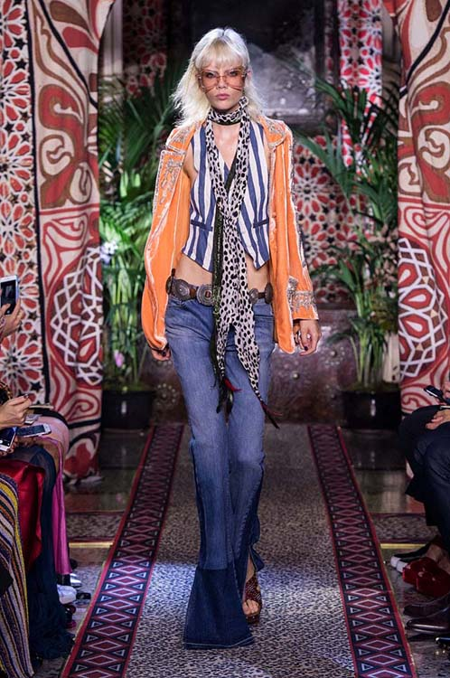 roberto-cavalli-spring-summer-2017-ss17-rtw-dress-14-orange-jacket-scarf-denim-pants-glasses