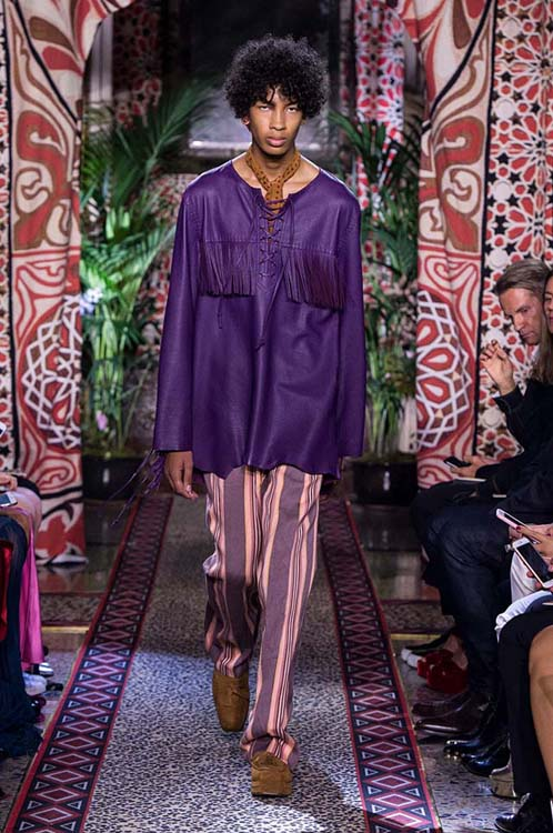 roberto-cavalli-spring-summer-2017-ss17-rtw-dress-39-violet-top-striped-pants-choker