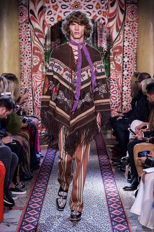 roberto-cavalli-spring-summer-2017-ss17-rtw-dress-42-brown-printed-poncho-striped-pants