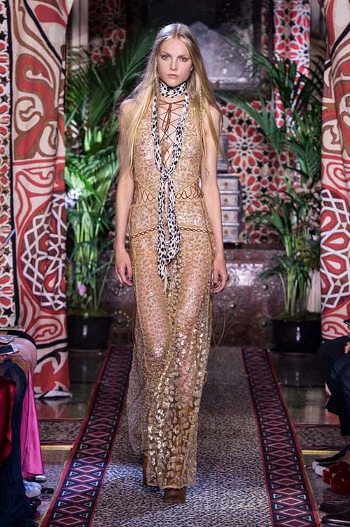 roberto-cavalli-spring-summer-2017-ss17-rtw-dress-43-tiger-print-scarf-cut-out-laced-gold-one-piece