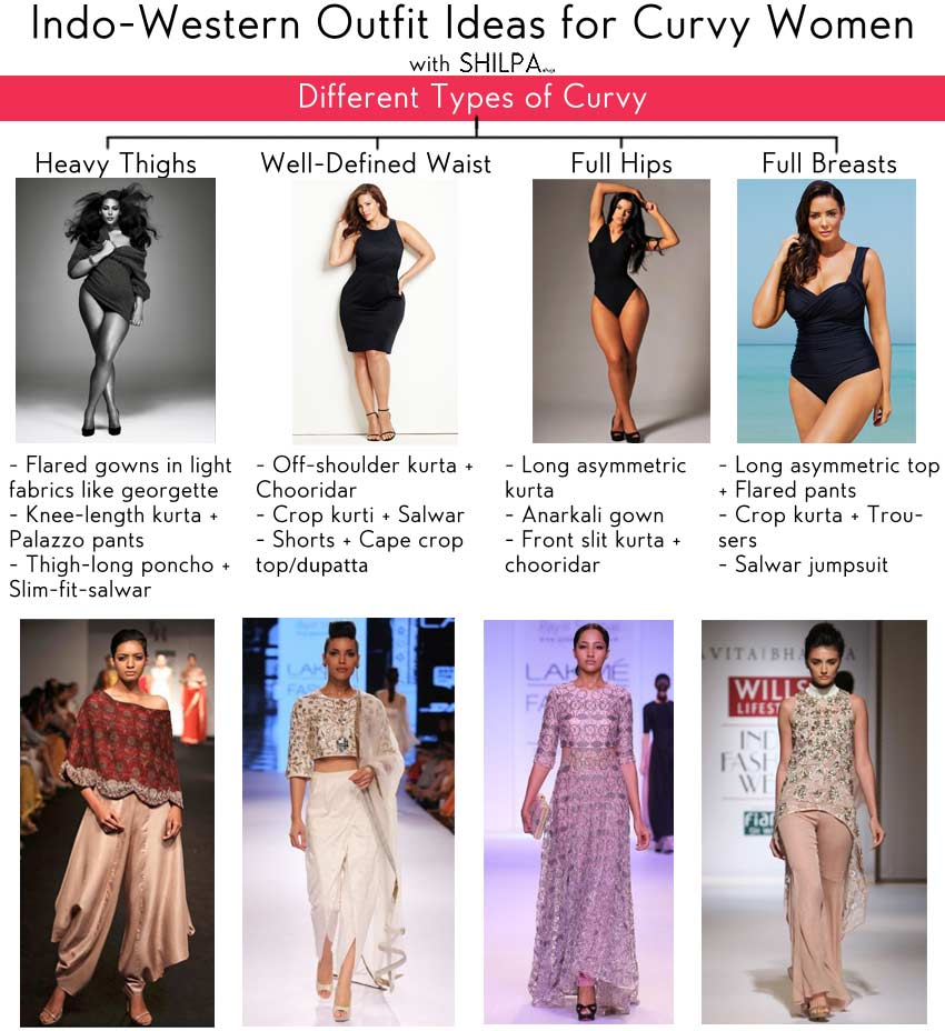 What Type of Indo-Western Clothing Would Suit a Curvy Woman?