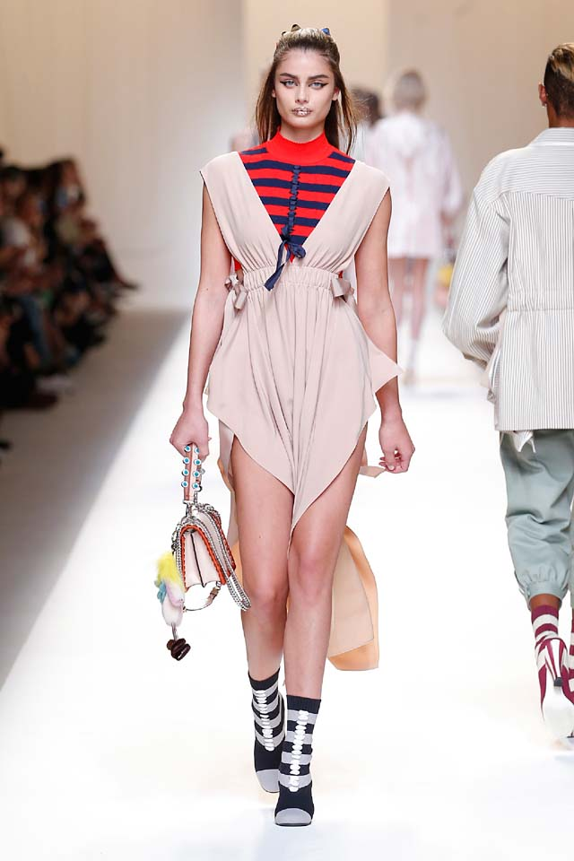 fendi-spring-summer-2016-dress-ss17-17-taylor-hill-handbag-booties-stripes