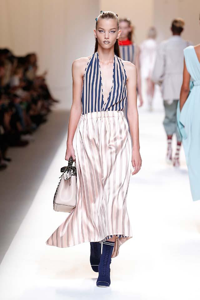 fendi-spring-summer-2016-dress-ss17-18-v-neckline-stripes-maxi-booties
