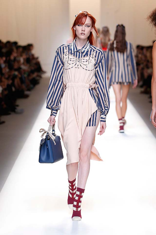 fendi-spring-summer-2016-dress-ss17-22-stripe-shirt-blue-handbag-booties