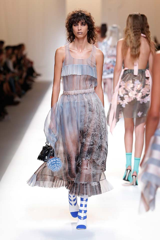 fendi-spring-summer-2016-dress-ss17-50-blue-sheer-ruffled-maxi-handbag-booties