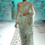 latest-designer-sarees-2017-rahul-mishra-sea-blue-sheer-saree-draped-couture-dresses-winter