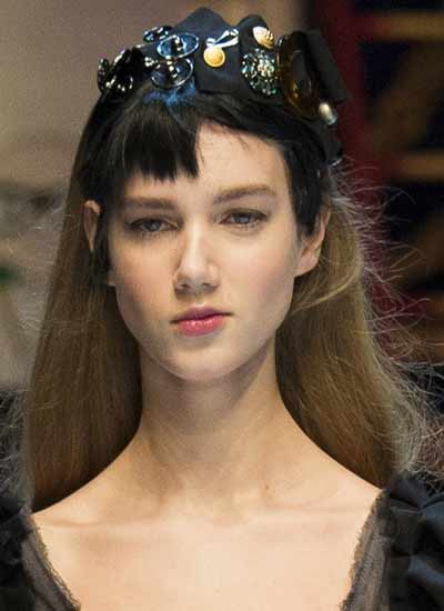 latest-hairstyle-for-women-dolce-gabbana-rtw-fw16-embellished-headband