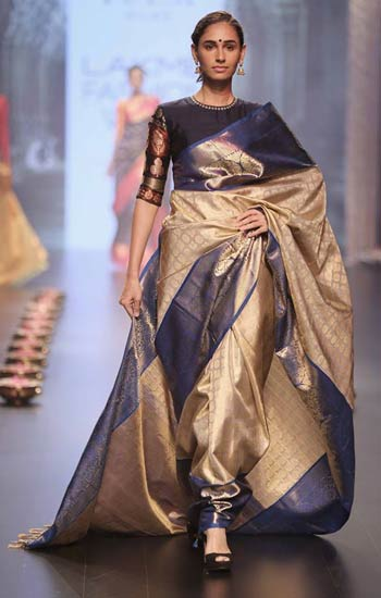 latest-saree-fashion-santosh-parekh-silk-navy-blue-border-winter-2017