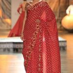 latest-saree-trends-reynu-taandon-designer-fashion-floral-subtle-border-red-winter-2017