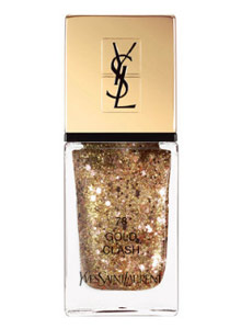 popular-nail-colors-winter-2017-yves-saint-laurent-gold-gliter-holiday-edition