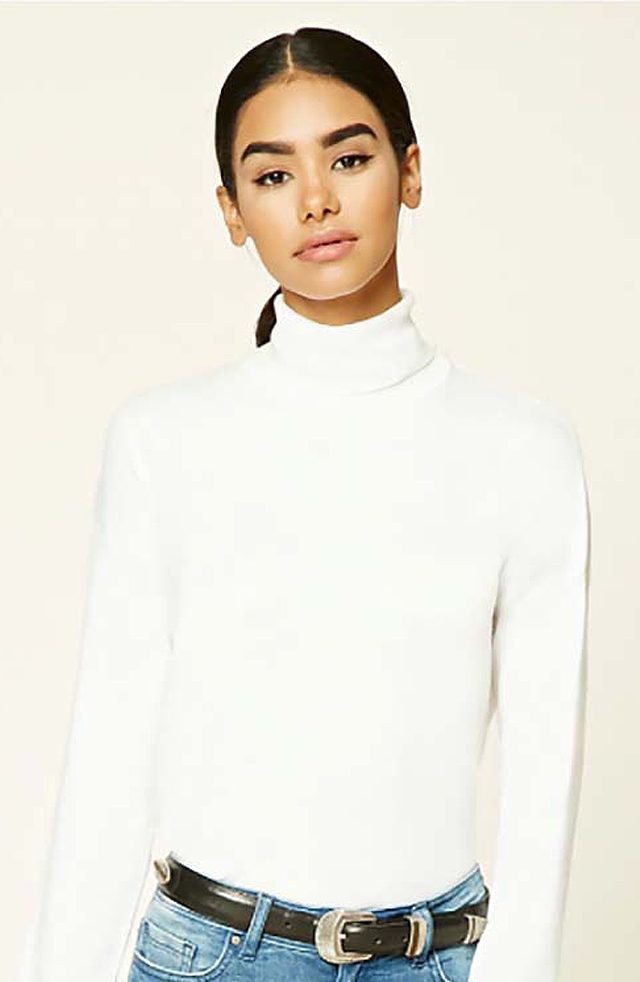 sweater-trends-2017-forever-21-white-turtle-neck-fashionable-best-women-winter