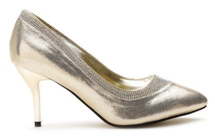 best-wedding-shoes-quiz-women-gold-toned-embellished-shimmer-pumps-myntra