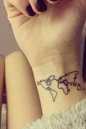 best-world-map-tatoo-beautiful-unique-design-winter-2017