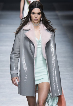 latest-coat-trends-fashionable-jackets-for-women-patent-leather-fur-collar-grey-versace
