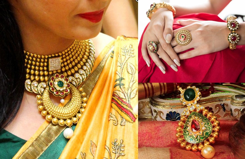 latest-indian-bridal-jewelry-kundan-gold-traditional-winter-2017