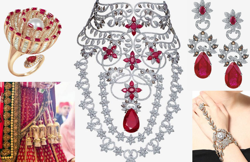 best-indian-bridal-jewelry-wedding-red-with-diamonds-winter-2017