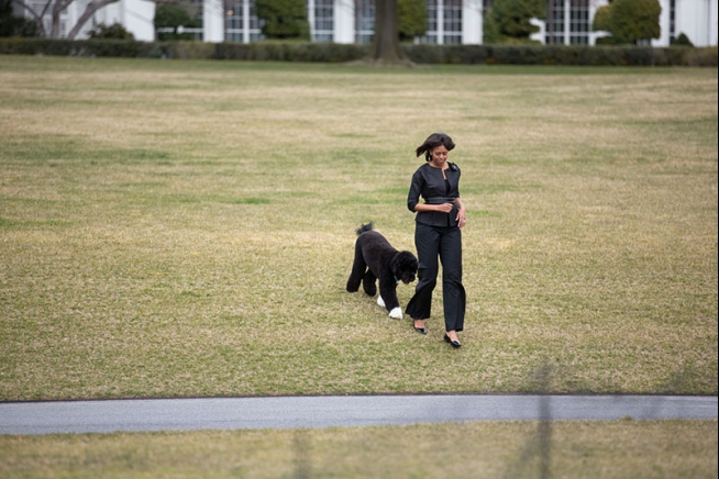 michelle-obama-style-fashion-dress-dog-casual-outfit