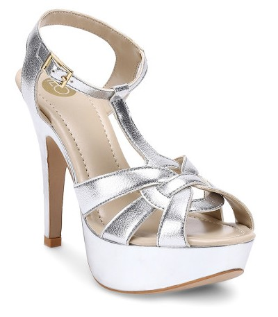 top-wedding-shoes-in-india-ilo-women-silver-solid-platforms-myntra-winter-2017