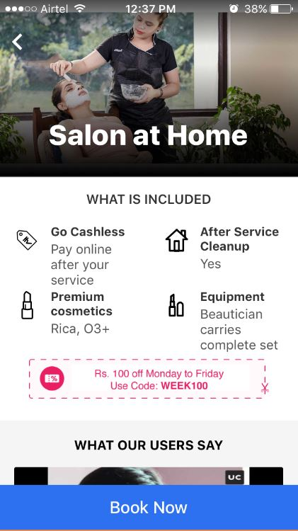 UrbanClap Review: The Uber of Salons is Here! - Shilpa Ahuja