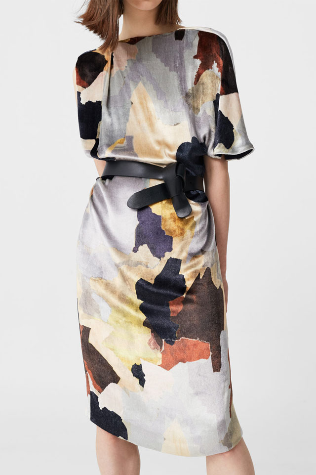 best-shopping-ideas-silk-velvet-mango-dress-fashion-fall-2016-trend-grey-print