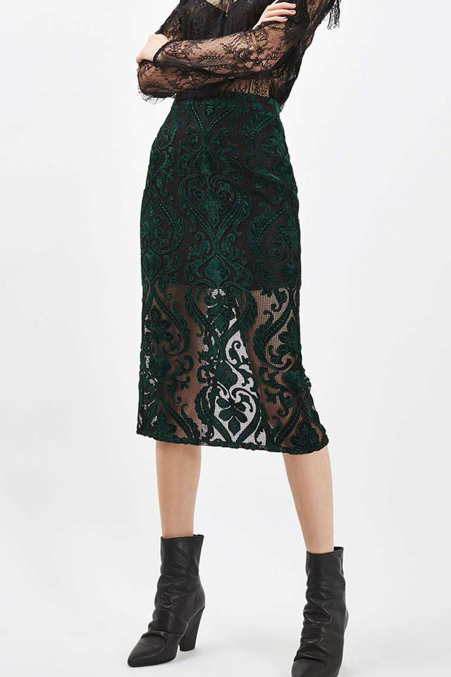Velvet-best-shopping-ideas-burnout-skirt-green-trend