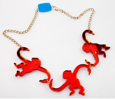 animal-inspired-jewelry-monkey-necklace-red-novelty-jewellery-fashion-latest-shopping-online