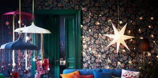beautiful-wallpaper-wall-string-light-diy-festive-season