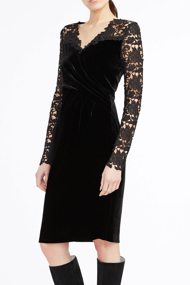 elie-tahari-velvet-lace-dress-trend-black-holiday-season-2016-2017