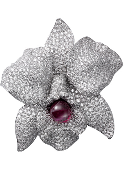 flower-shaped-jewelry-cartier-brooch-silver-shopping