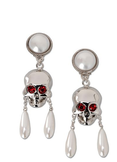 halloween-skull-silver-novelty-earrings-jewelry-shopping-online-ghost-moschino