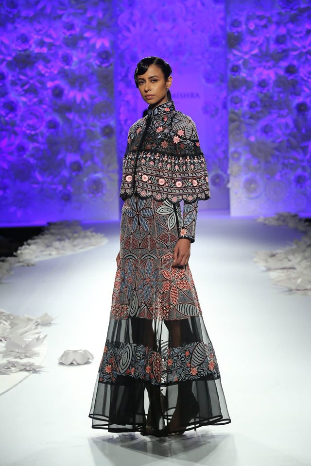 indian-gown-trends-embroidery-cape-black-rahul-mishra-spring-summer-2017
