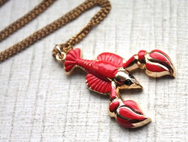 lobster-pendent-necklace-handmade-novelty-jewelry-nature-inspired-shopping