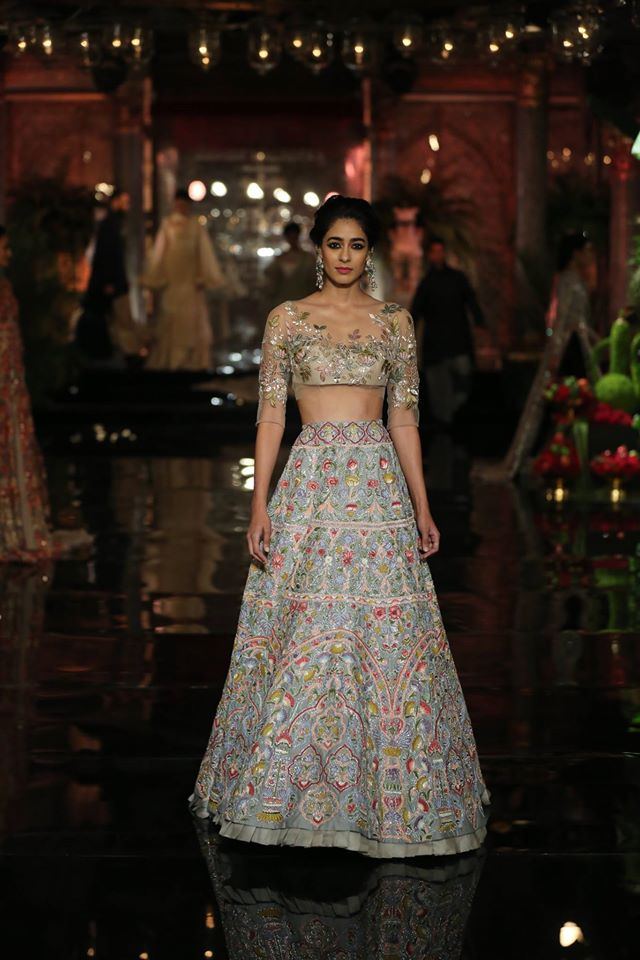unconventional-embroidery-patterns-blue-lehenga-design-Manish-malhotra-2017-crop-top