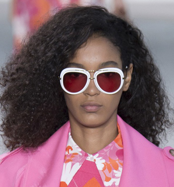 white-frames-pink-lens-michael-kors-best-stylish-sunglasses-runway-ss17