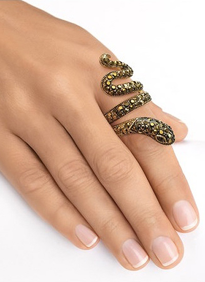 yellow-gold-snake-ring-for-women-online-shopping-novelty-jewelry-fashion