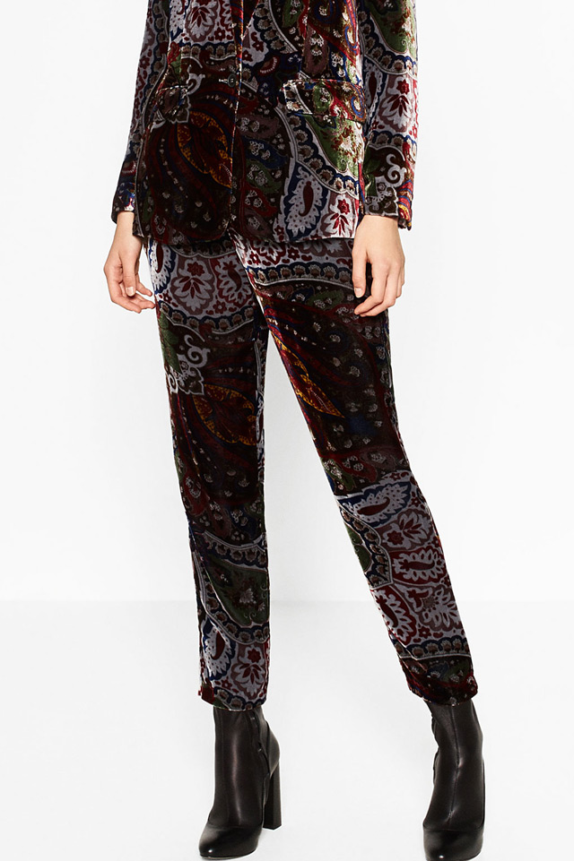 zara-printed-velvet-trouser-best-shopping-ideas-maroon-trend-fashion-shopping