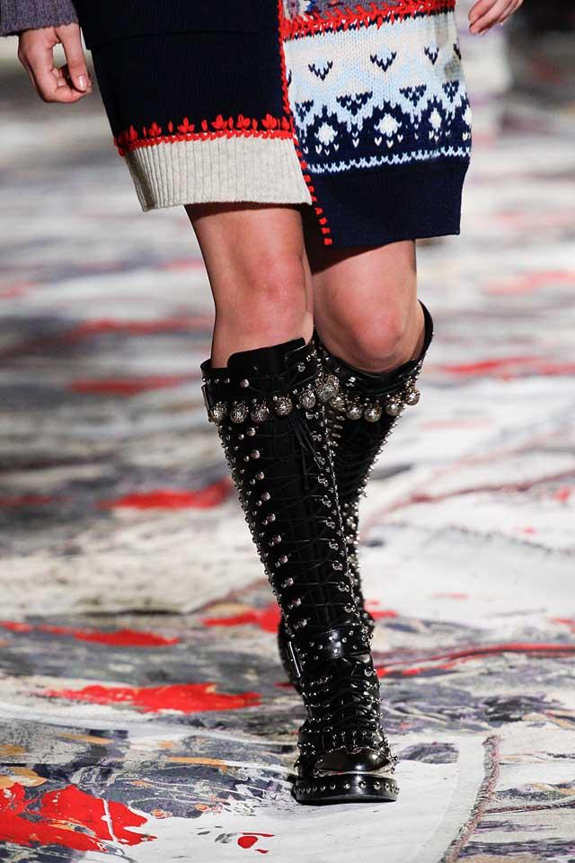 alexander-mcqueen-black-studded-spring-summer-2017-boots-trends-latest-designer-shoes