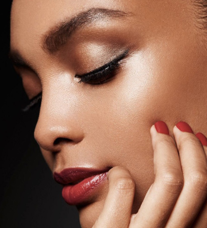 dark-skin-tone-red-lips-engagement-makeup-ideas-best-