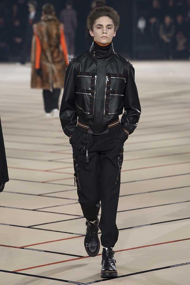 dior_fw17-fall-winter-2017-menswear-mens (37)-black-leather-bomber-jacket-turtleneck